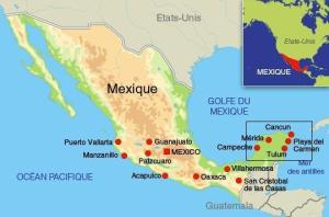 - Mexique - Yucatan carte mexique 277859