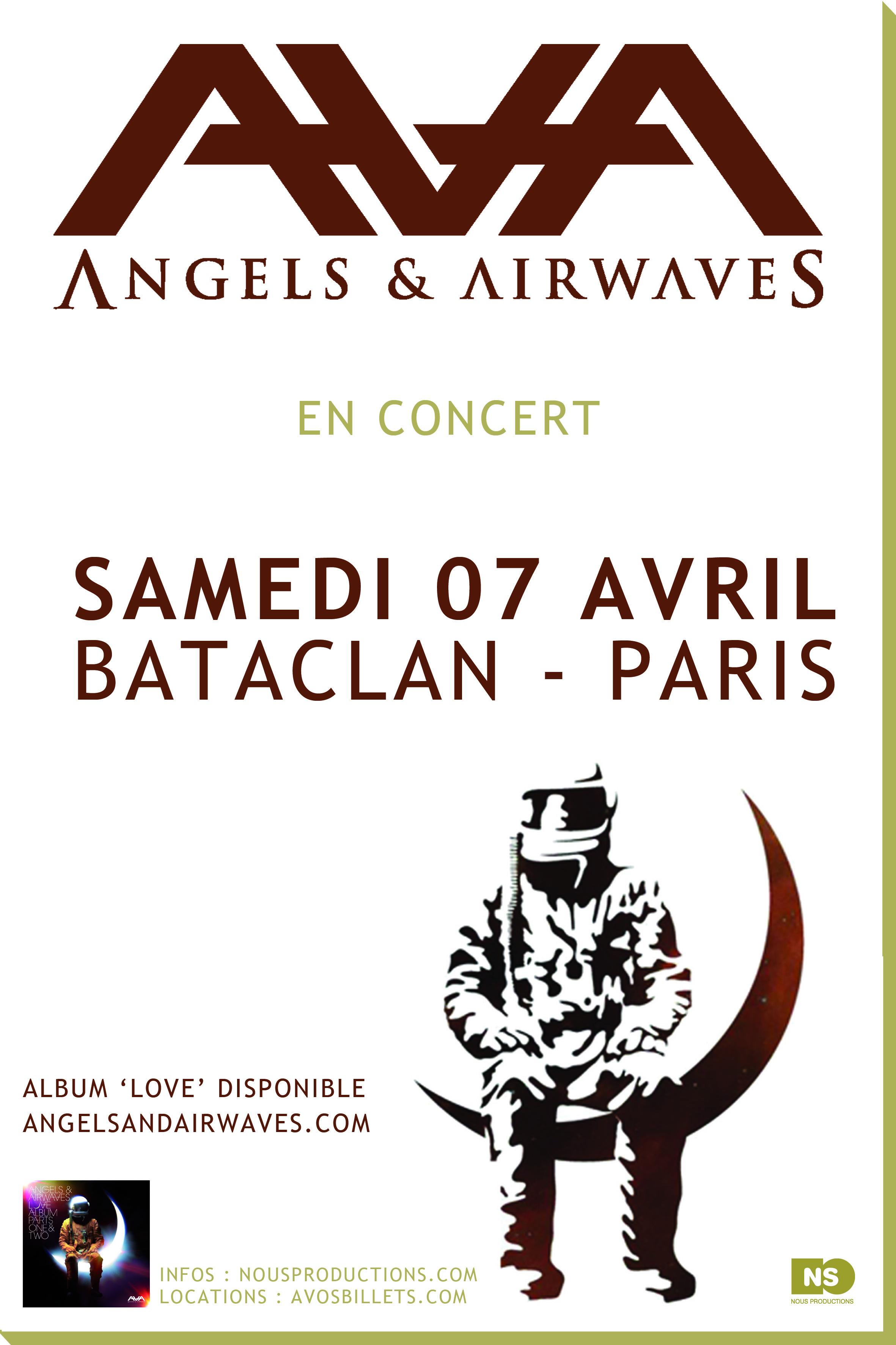 Angels & Airwaves Bruxelles - [Concert] Angels & Airwaves - 6 / 7 avril - Bruxelles / Paris angelsairwaves